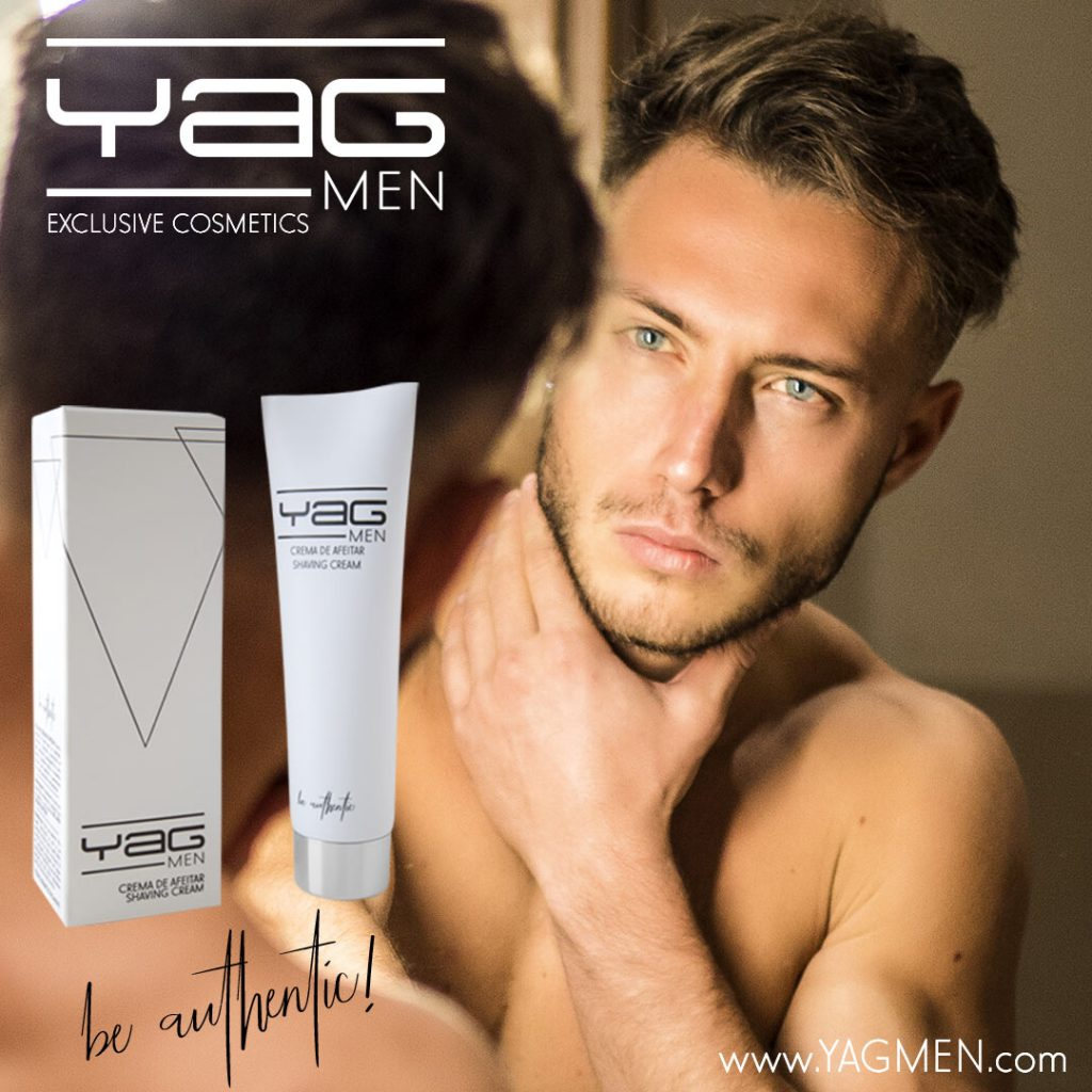 Crema de afeitar YAG MEN. Artículo blog alta cosmética masculina.